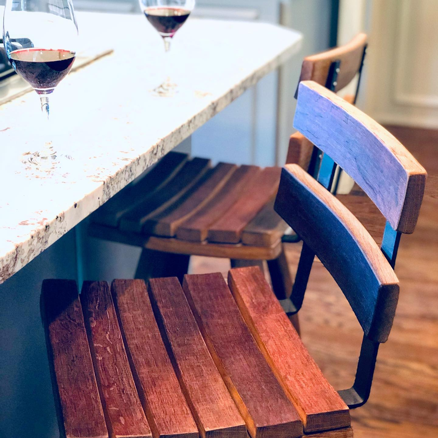 Woodinville Barrel Works - wine barrel furniture - bar stools